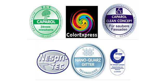 Co oznaczają loga zawarte na opakowaniach farb Caparol